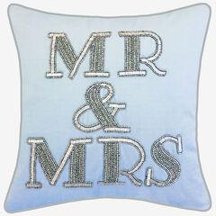 """Beaded """"Mr & Mrs"""","""