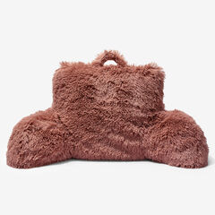 Lola Shaggy Backrest Pillow, DUSTY PINK