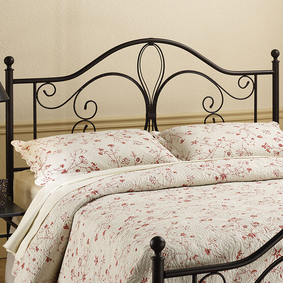 """Twin Headboard with Headboard Frame, 63½""""Lx40¼""""Wx49½""""H, ANTIQUE BROWN"""