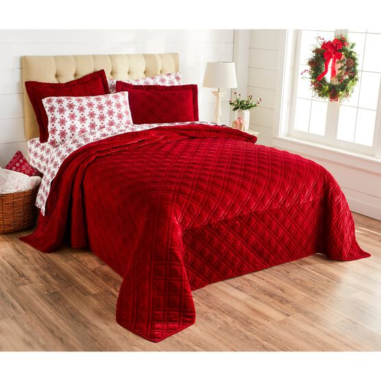 Velvet Diamond Quilted Bedspread,