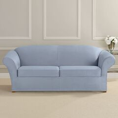 Ultimate Stretch Faux Suede 2-Seat Sofa Cushion Slipcover ,