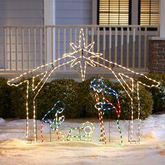 "56""H Ropee Light Nativity Scene,"