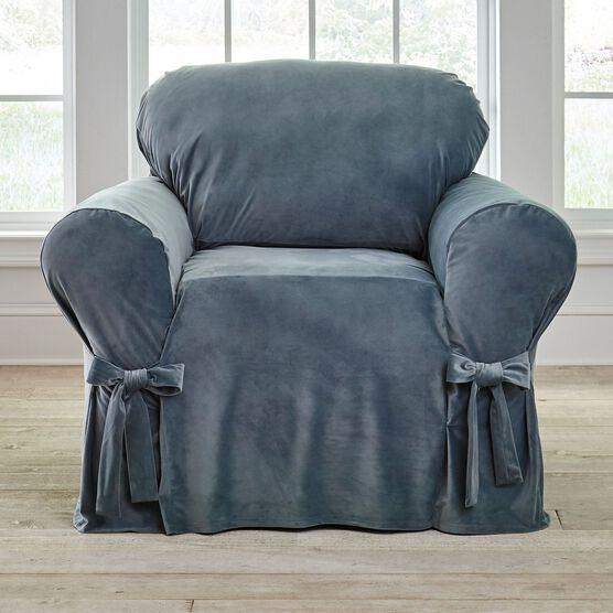 Velvet Chair Slipcover,