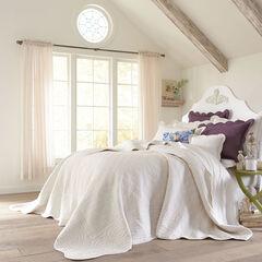 Florence Oversized Bedspread, ECRU