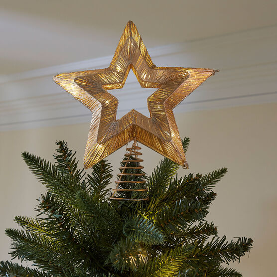 Pre Lit Star Tree Topper Brylane Home