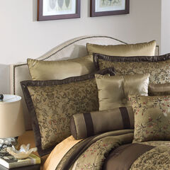 """Queen Size Upholstered Curved Top Nail Button Border Headboard, 62""""Lx4""""Wx51""""H, OATMEAL"""