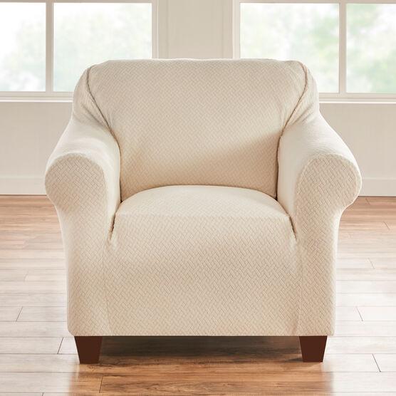 BH STUDIO BASKETWEAVE STRETCH Chair SLIPCOVER,