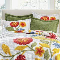 Bloom Chenille Shams,