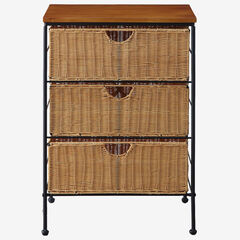 3 Drawer Wicker Chest,