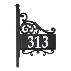 Nite Bright Acanthus Reflective Address Post Sign,