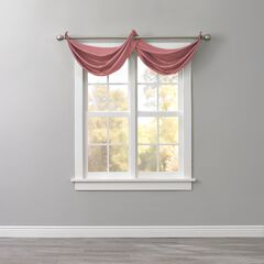 BH Studio Room-Darkening Waterfall Grommet Valance, DUSTY ROSE