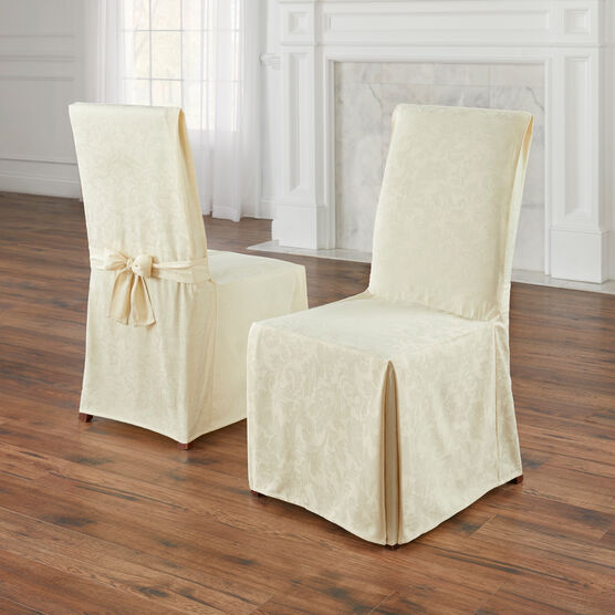 Set of 2 Damask Chair Covers,