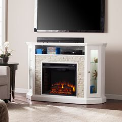 Redden Corner Convertible Electric Media Fireplace,