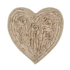 Bellflower Heart Bath Rug,