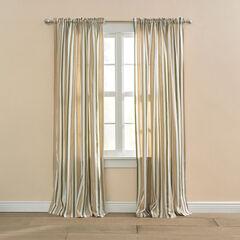 BH Studio Cotton Canvas Striped Rod-Pocket Panel,