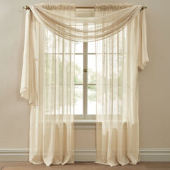 Crushed Voile Scarf Valance,