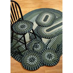 Alpine Braid Collection Offers Great Value Reversible Indoor Area Rug, 7 Piece Set by Better Trends, HUNTER STRIPE