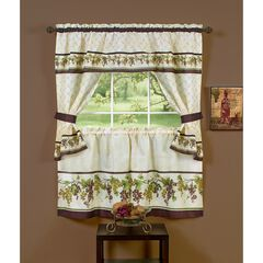 Tuscany Cottage Window Curtain Set,