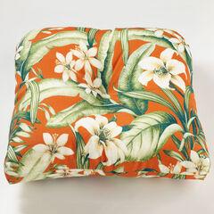 Tufted Wicker Chair Cushion, NAYA PAPAYA