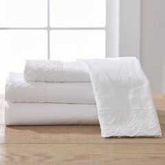 Garment-Washed Lace Sheet Set,