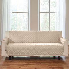 BH Studio® Water-Repellent Microfiber Extra-Long Sofa Protector,
