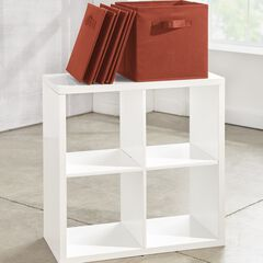 Eve Collapsible Boxes, Set of 4, TERRACOTTA