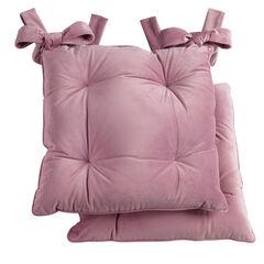Venice Velvet Seat Cushions, Set of 2,