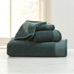 3-Pc. Towel Set + Free Bath Mitt, EVERGREEN