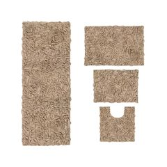 Bellflower 4-Pc. Bath Rug Set Ivory,