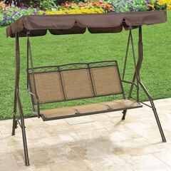 Extra Wide Textured Vinyl 3-Seat Swing,