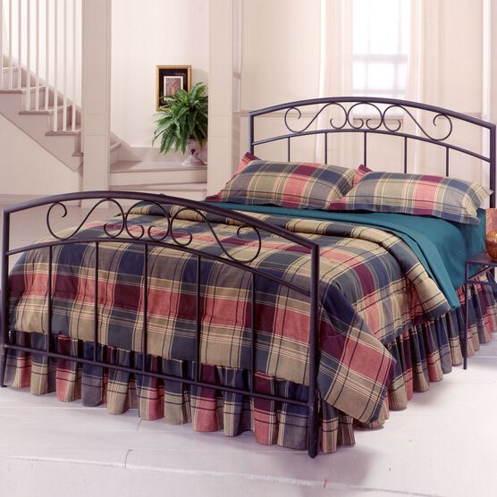 """Queen Bed Set with Bed Frame, 83½""""Lx62¾""""Wx46""""H, BLACK"""
