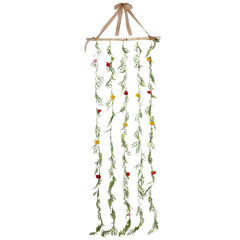 Pre-Lit Flower Garlands, MULTI