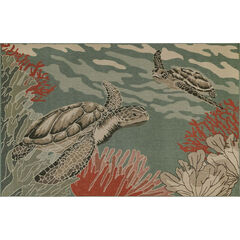 Liora Manne Riviera Seaturtles Indoor/Outdoor Rug,
