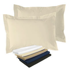 2-Pack Tailored  65/35 Poly/Cotton Sham, IVORY