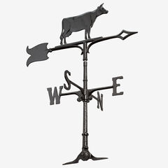 "30"" Cow Accent Weathervane, BLACK"