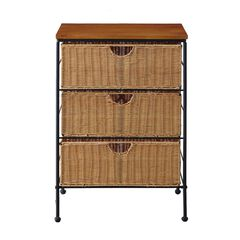 3-Drawer Wicker Chest by 4D Concepts,
