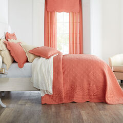 Florence Oversized Bedspread, CORAL