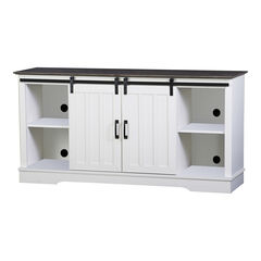 Finley 56-inch TV Stand with 2 Barn Doors,