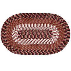 "Alpine Braid Collection Reversible Indoor Area Rug, 48"" x 72"" Oval by Better Trends,"