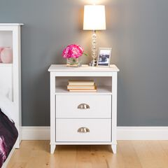 Yaletown 2-Drawer Tall Nightstand,