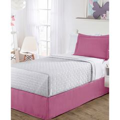 "Luxury Hotel Kids Tailored 14"" Drop Pink Bed Skirt,,"
