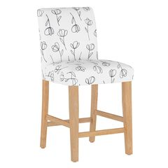 Contoured Tulips Counter Stool,