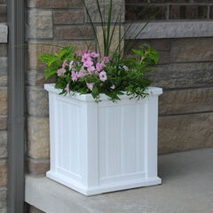 "Mayne® 16""Sq. Cape Cod Patio Planter,"