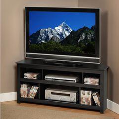 Vasari Corner Flat Panel Plasma/LCD TV Console, Black,