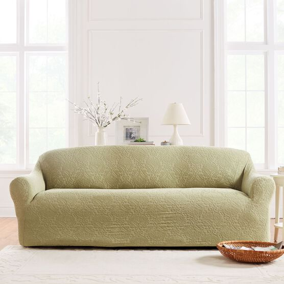 BrylaneHome® Studio Ikat Stretch Sofa Slipcover,