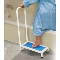 Non-Slip Bath Step, WHITE BLUE