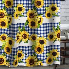 Sunflower Gold Bath Shower Curtain,
