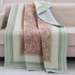 Barefoot Bungalow Palisades Quilted Throw Blanket,
