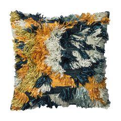 Shaggy Bohemian Water Decorative Pillow,