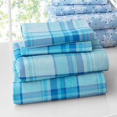 BrylaneHome® Studio Cotton Print Flannel Sheet Set  ,
